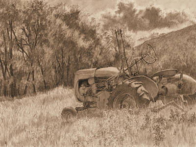 Drawing - Wistful Sepia by David King