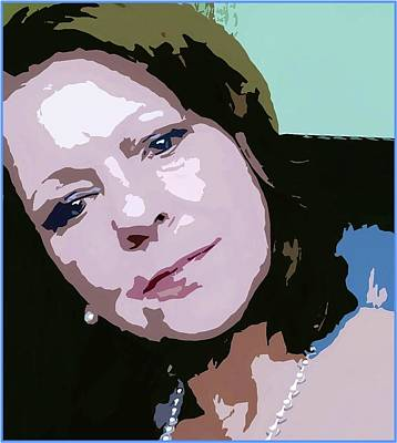 Digital Art - Wistful Woman Pop Art by Ellen Barron O'Reilly