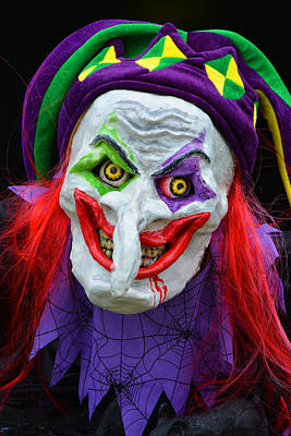Photograph - Witch Halloween Clown by Mike Martin