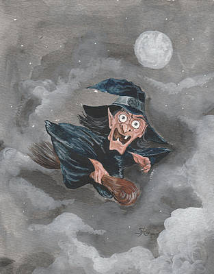 Painting - Witch by Hay Rouleaux