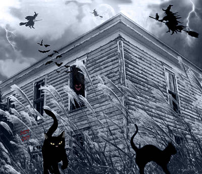 Haunted House Digital Art - Witch Hunt by Brian Wallace