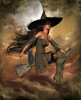 Digital Art - Witch Way  by Ali Oppy