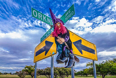Wicked Witch Of The West Photograph - Witch Way? by Ken Blystone
