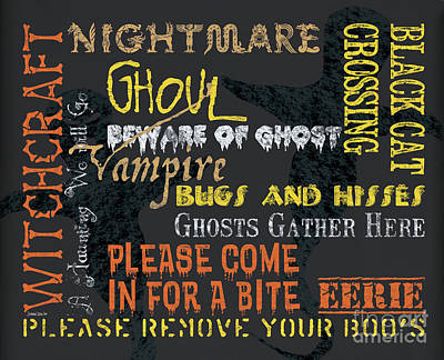 Gothic Mixed Media - Witchcraft Typography by Debbie DeWitt