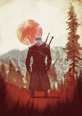 Digital Art - Witcher 3 by IamLoudness Studio