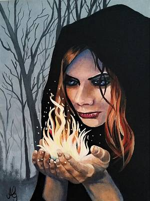 Painting - Witchery by Anne Gardner