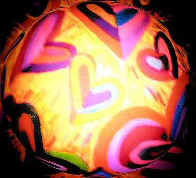 Abstract Digital Drawing - Witches Ball by Brenda Adams