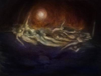 Painting - Witches Sabbath - After Dore by Linda Falorio