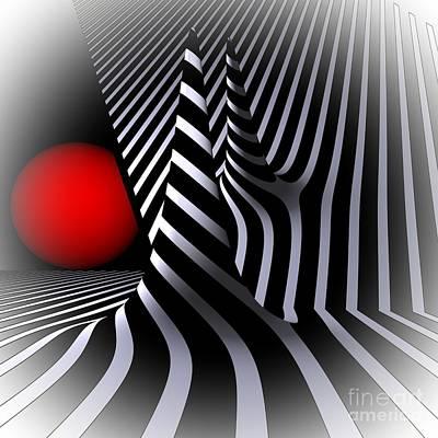 Reflexions Digital Art - Witchhat Opart by Issabild -
