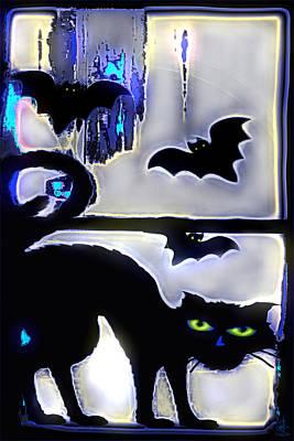 Mixed Media - Witchin' Night by Pennie  McCracken