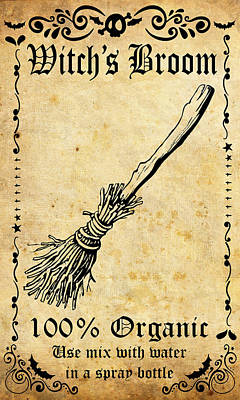 Broom Wall Art - Mixed Media - Witch's Broom by Long Shot