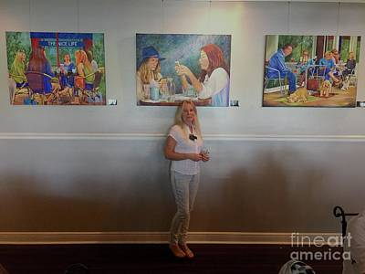 Painting - With 3 Paintings by AnnaJo Vahle