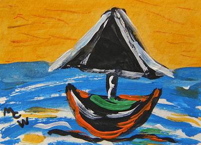 Painting - With A Black Sail by Mary Carol Williams