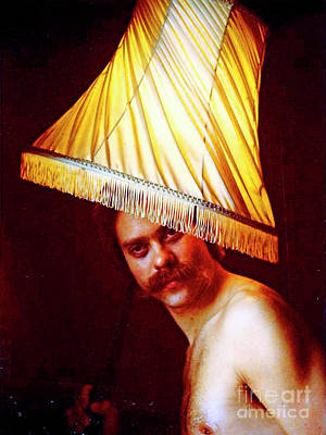 With A Lampshade On His Head Art Print by Michael Durst