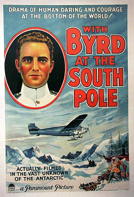 Classic Film Star Mixed Media - With Byrd At The South Pole 1930 by Mountain Dreams
