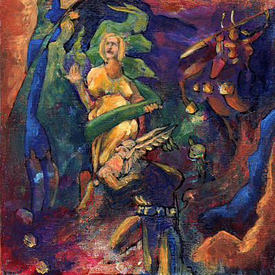 Norse Goddess Painting - With Child by David Matthews
