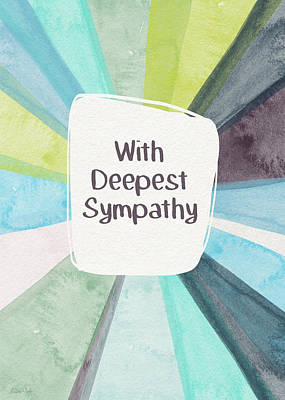 With Deepest Sympathy- Art By Linda Woods Art Print