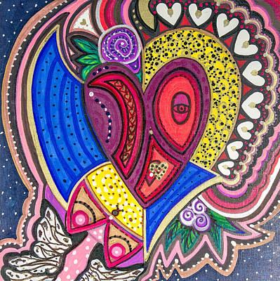 With Eyes Half Open Art Print