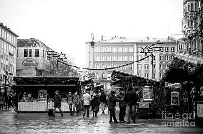 Photograph - With Friends At The Christkindlmarkt by John Rizzuto