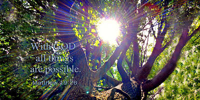 24x48 Photograph - With God All Things Are Possible Two by Morgan Carter