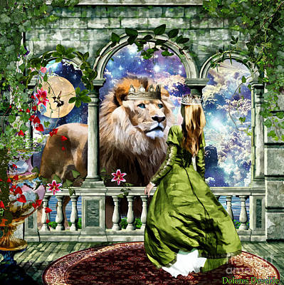 Lion Of Judah Digital Art - With Him I Speak Face To Face by Dolores Develde