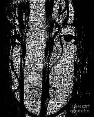 With Love.. - Black And White  Art Print by Prar Kulasekara