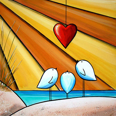 Sea Birds Painting - With Love IIi by Cindy Thornton