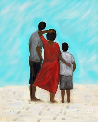 Painting - With My Boys by Leslie Allen