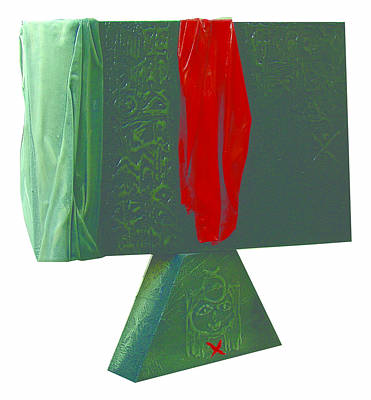 Sculpture - With The Red  by Saadi Babely
