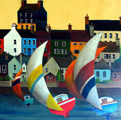 Painting - With The Wind In Kinsale, West Cork by Val Byrne