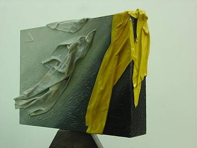 Sculpture - With The Yellow  by Saadi Babely