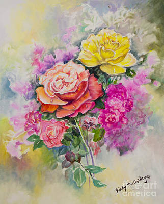Ageless Painting - Gathering Flowers From The Garden by Kirby McCarley