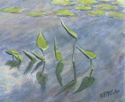 Painting - With Uplifted Hands by Bill McEntee