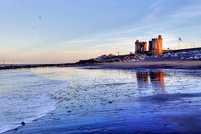Photograph - Withernsea Sunset And Moon by Sarah Couzens