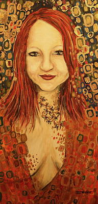 Reynolds Mixed Media - Within Desire - Golden by Jeni Reynolds