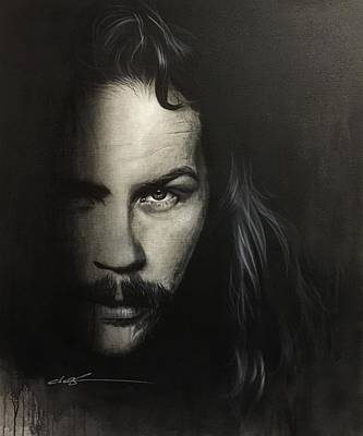 James Hetfield - ' Within The Shadows Of Darkness ' Art Print by Christian Chapman Art