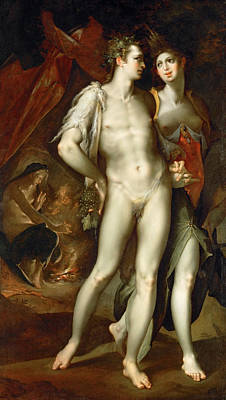 Painting - Without Ceres And Bacchus, Venus Grows by Bartholomeus Spranger