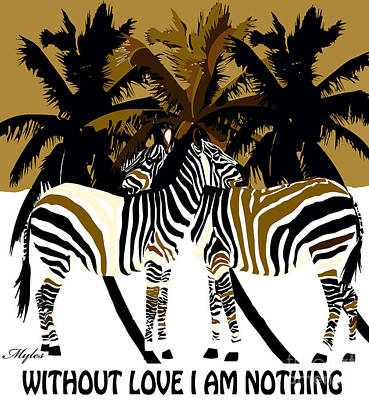 Painting - Without Love I Am Nothing by Saundra Myles