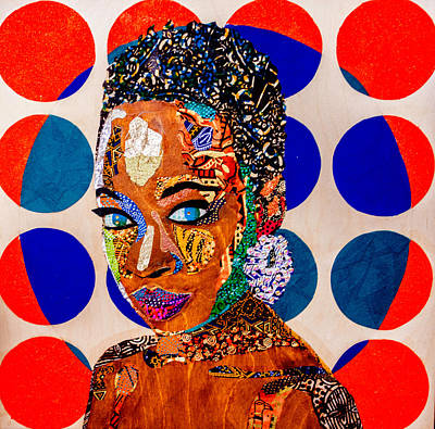 Tapestry - Textile - Without Question - Danai Gurira I by Apanaki Temitayo M