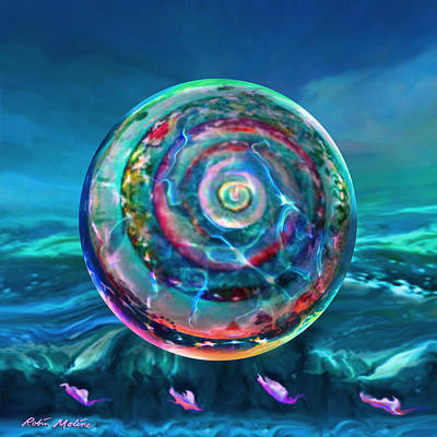 Stormy Weather Digital Art - Withstanding Orby Weather by Robin Moline