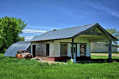 Photograph - Witten Filling Station by Bonfire Photography