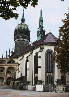 Photograph - Wittenberg Castle Church 1 by Rudi Prott