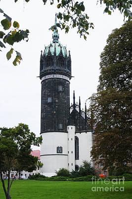 Photograph - Wittenberg Castle Church 2 by Rudi Prott