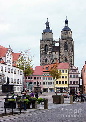 Photograph - Wittenberg Market Place by Rudi Prott