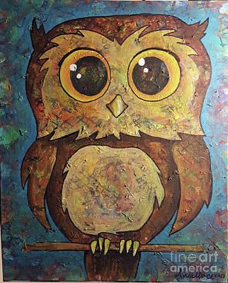 Mixed Media - Witty Owl by Sandra Wallace