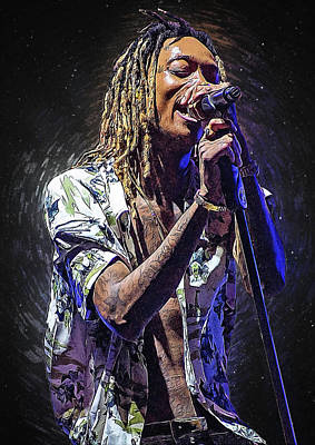 Wiz Khalifa Art Print