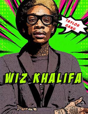 Wiz Khalifa Digital Art - Wiz Khalifa by Soci Devian