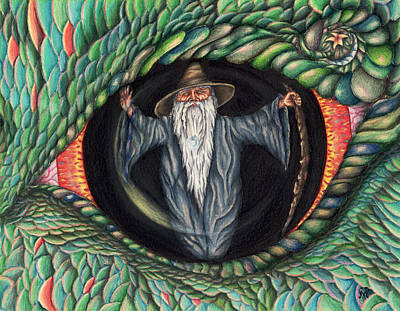 Drawing - Wizard In Dragon's Eye by Karen Musick