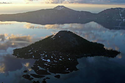 Photograph - Wizard Island And Mount Scott Twilight, Crater Lake Np, Oregon by Robert Mutch