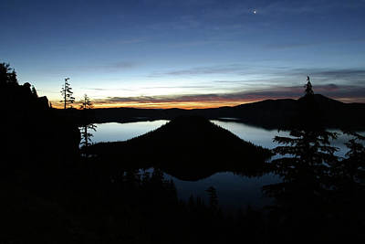 Photograph - Wizard Island At Twilight, Crater Lake Np, Oregon by Robert Mutch